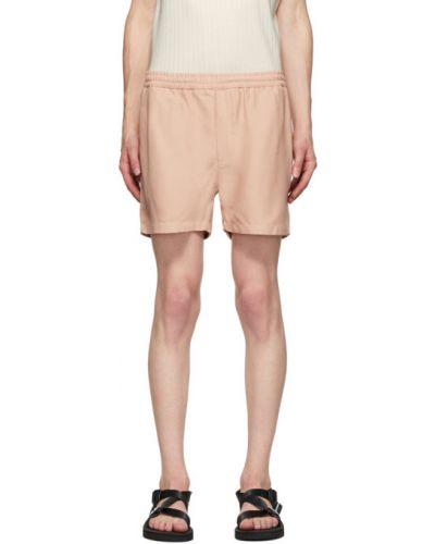 Хлопковые розовые короткие шорты на резинке Second/layer