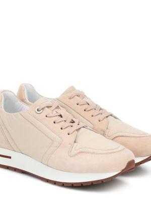Кожаные кроссовки - розовые Loro Piana
