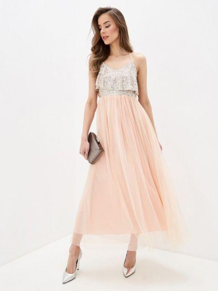 Коралловое вечернее платье Rinascimento