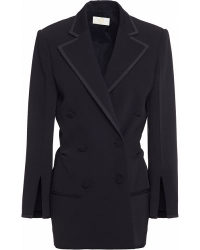 Черный пиджак двубортный с карманами Sara Battaglia