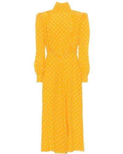Желтое шелковое вечернее платье Alessandra Rich