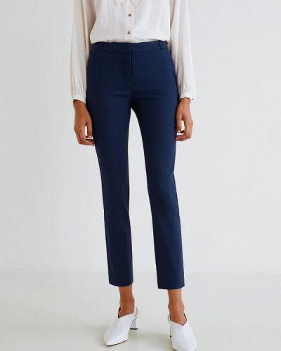 Классические брюки весенний синие Mango