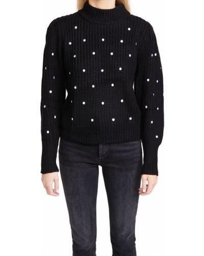 Акриловый белый длинный свитер с вышивкой English Factory