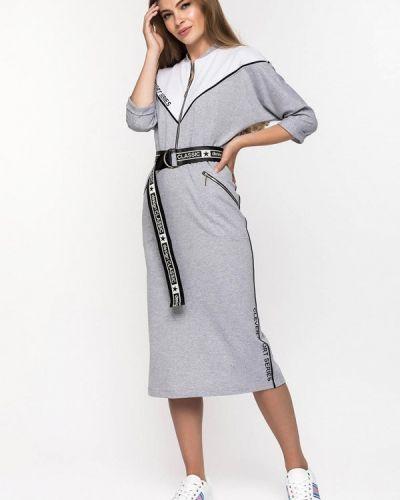 Платье серое платье-толстовка Clever Woman Studio