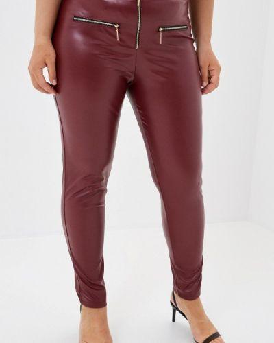Бордовые зауженные брюки Prewoman