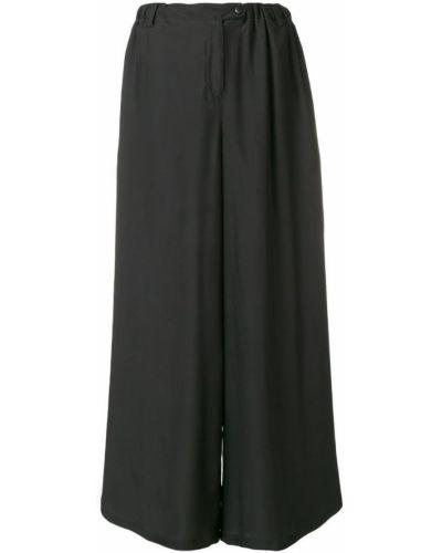 Черные свободные брюки с поясом на пуговицах свободного кроя Sartorial Monk