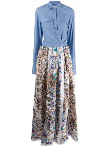 Платье макси на пуговицах с цветочным принтом Sara Roka