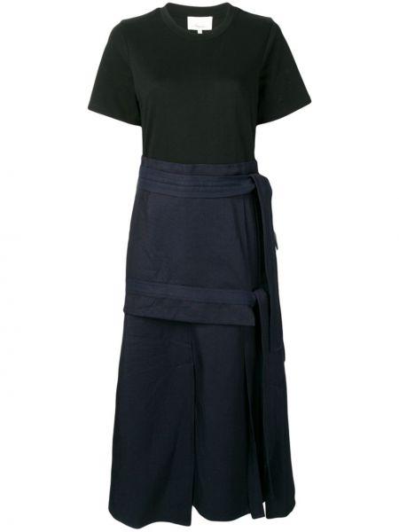 Платье с поясом футболка синее 3.1 Phillip Lim