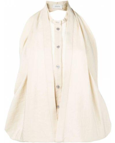 Блузка без рукавов с воротником-стойкой с драпировкой Lemaire