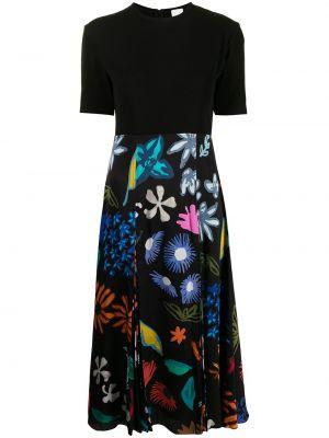 Платье в цветочный принт - черное Paul Smith
