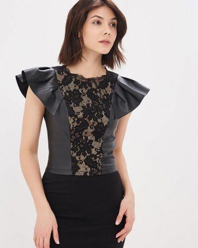 Блузка без рукавов черная весенний Love Republic