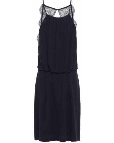 Кружевное синее платье мини с открытой спиной SamsØe Φ SamsØe