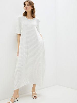 Белое платье осеннее Adzhedo