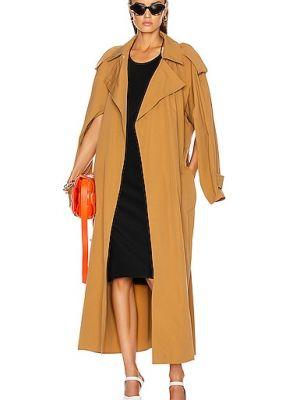 Домашнее коричневое кожаное пальто Bottega Veneta