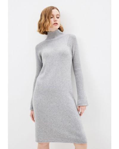 Серое трикотажное платье Stefanel