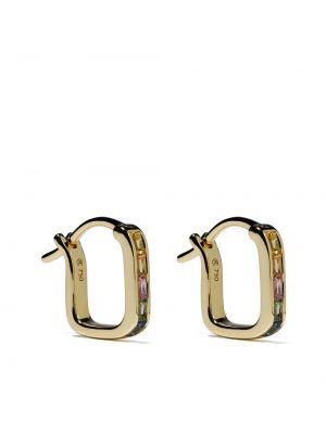 Золотистые золотые серьги золотые со вставками Raphaele Canot