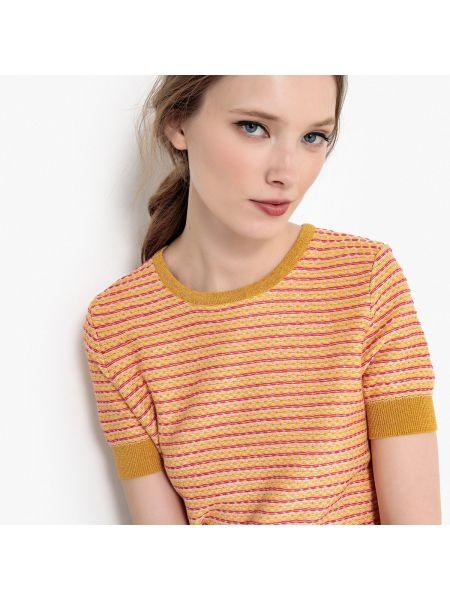Пуловер короткий жаккардовый La Redoute Collections