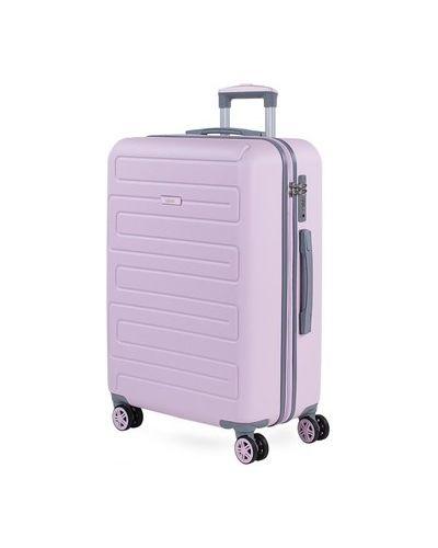 Różowy walizka Skpat
