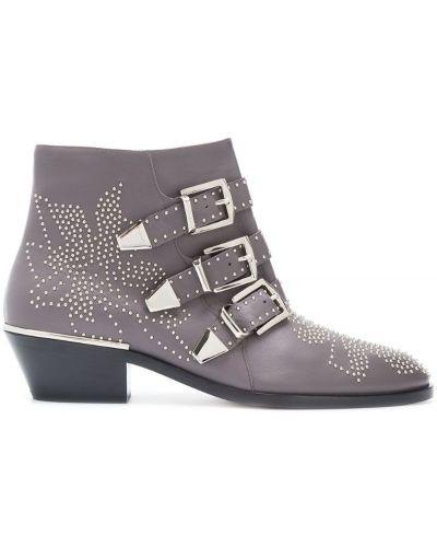 Серые ботинки Chloé