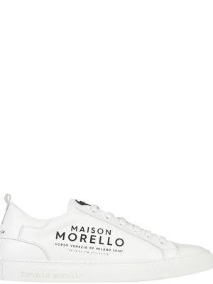 Кожаные кеды - белые Frankie Morello