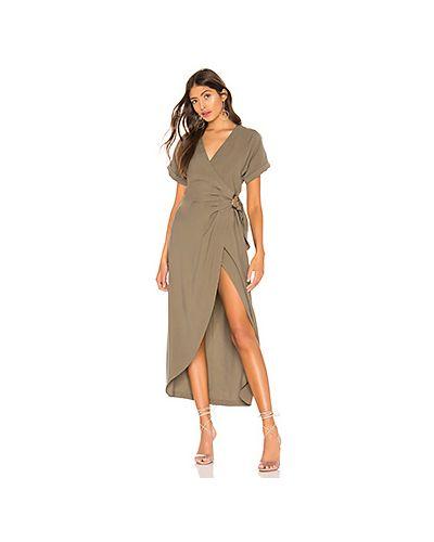 Платье с поясом с запахом из вискозы L'academie