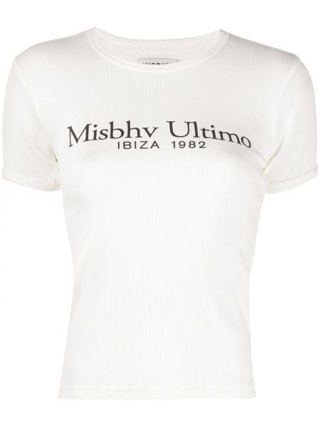 Koszula z krótkim rękawem biała z nadrukiem Misbhv