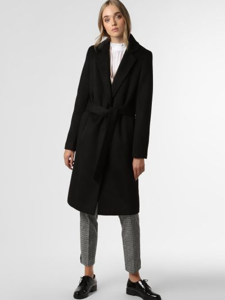 Czarny płaszcz Marie Lund
