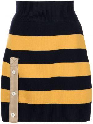 Czarna spódniczka mini w paski bawełniana Monse