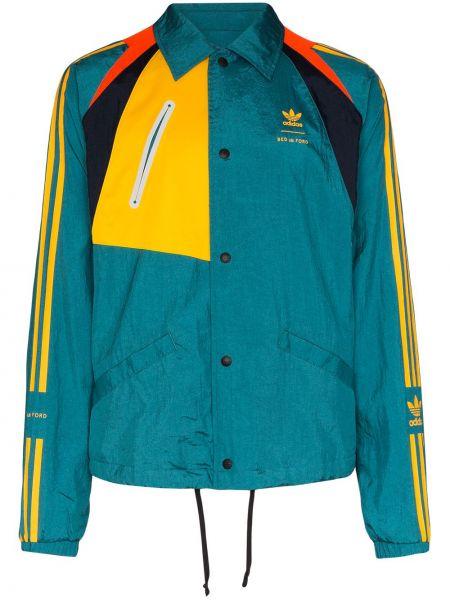 Куртка жёлтая синяя Adidas