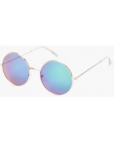 Солнцезащитные очки золотого цвета Piazza Italia