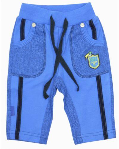 Синие шорты с поясом Smil
