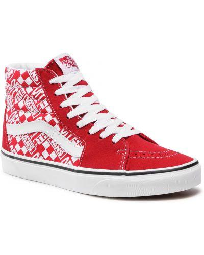 Buty sportowe skorzane - czerwone Vans