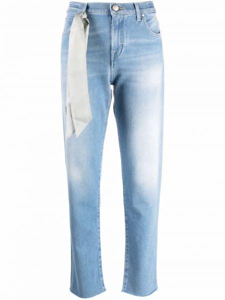 Синие джинсовые прямые джинсы классические Jacob Cohen