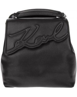 Кожаный рюкзак с откидным клапаном маленький Karl Lagerfeld