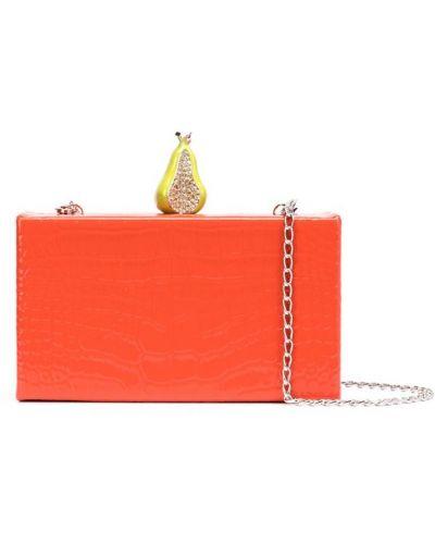Оранжевая сумка на цепочке Edie Parker