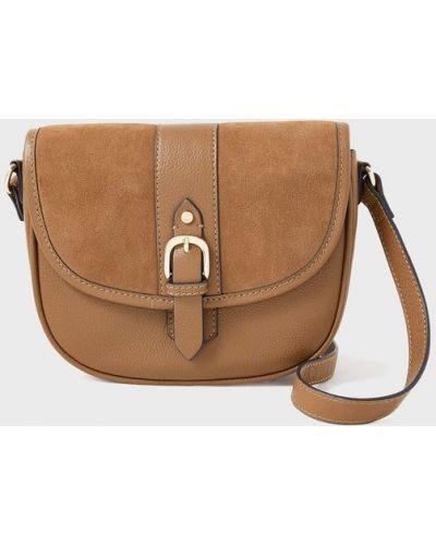 Кожаная сумка - коричневая Accessorize