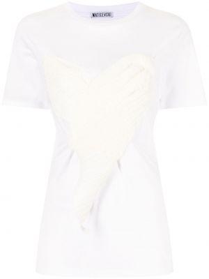 Biała koszulka krótki rękaw Maticevski