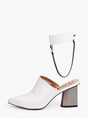Белые кожаные сабо Graciana