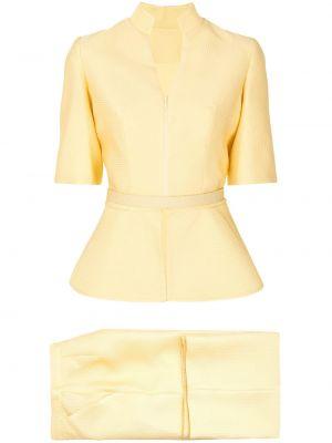 Желтый комбинезон с короткими рукавами с поясом Saiid Kobeisy