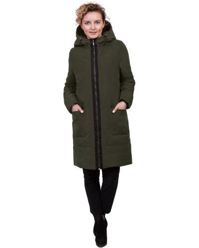 С рукавами прямое пальто с капюшоном J-splash