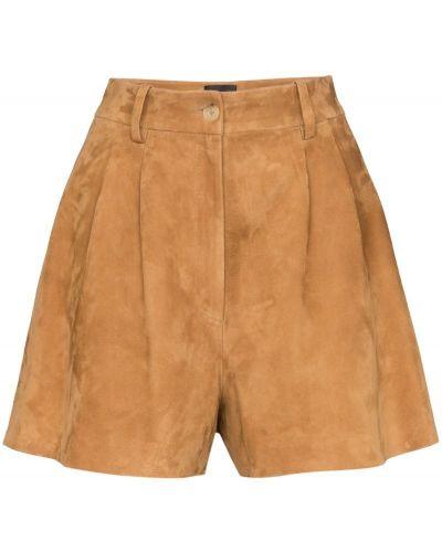 Однобортные коричневые шорты Nili Lotan