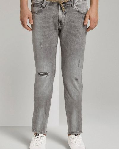 Джинсовые зауженные джинсы - серые Tom Tailor Denim