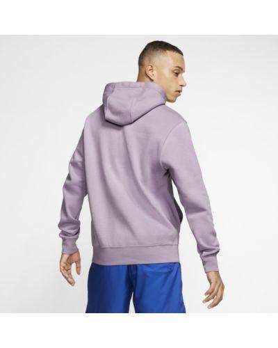 Fioletowa bluza z kapturem na co dzień Nike