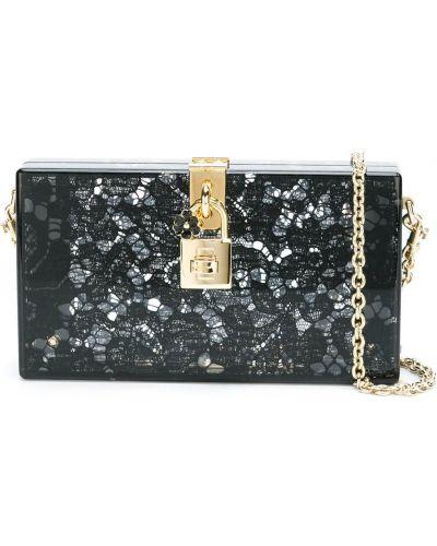 Biała złota kopertówka Dolce And Gabbana