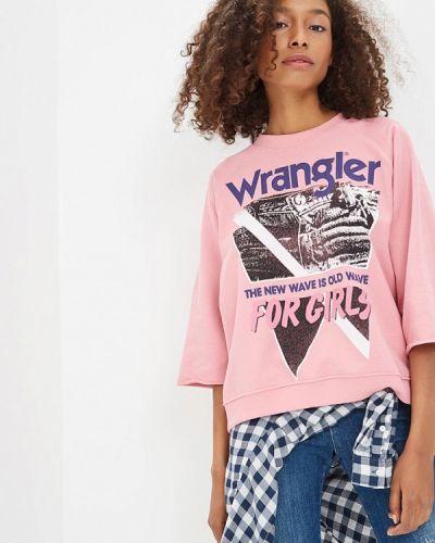 Розовый свитшот Wrangler