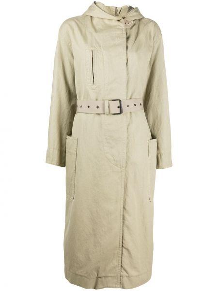 Длинное пальто на пуговицах айвори Isabel Marant étoile