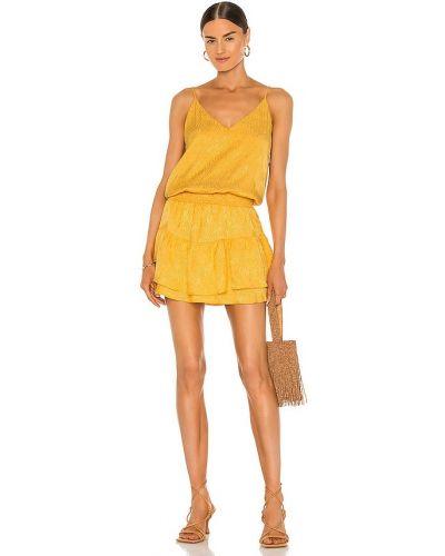 Желтое платье мини с подкладкой из вискозы Krisa