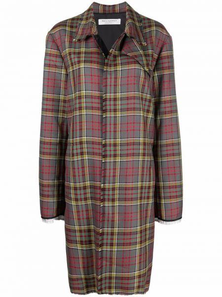 Серое шерстяное пальто Philosophy Di Lorenzo Serafini