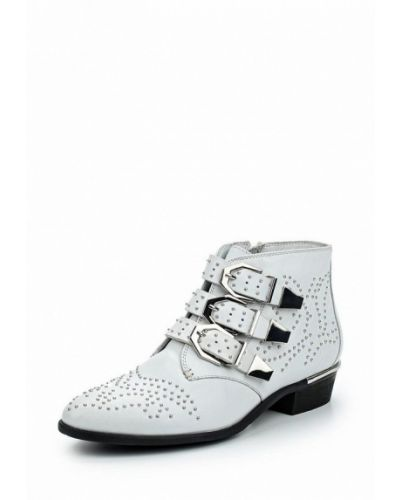 Кожаные ботинки белый Bronx