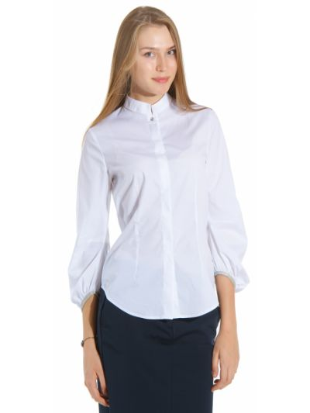 Хлопковая блузка - белая Cerruti 18crr81